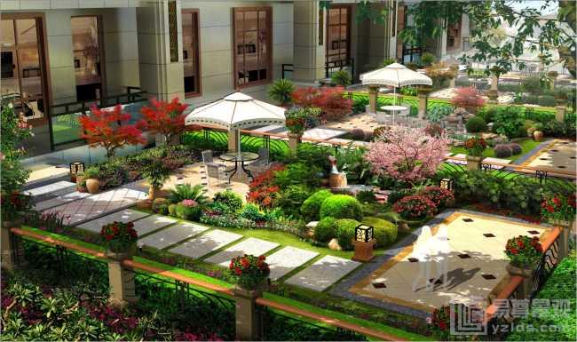 房地产别墅区景观设计-作品展示-114园林网