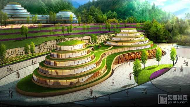 生态旅游养生酒店建筑规划设计案例欣赏图片